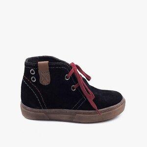 Pantofi din piele naturala intoarsa  pentru copii – 107-c negru