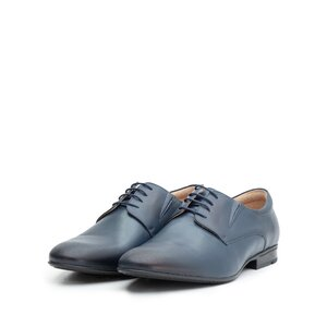 Pantofi eleganti barbati din piele naturala de bivol,Leofex - 792 blue box