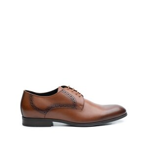 Pantofi eleganti barbati din piele naturala Leofex -512* C Cognac Box