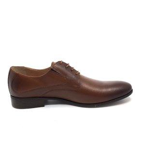 Pantofi eleganti barbati din piele naturala,Leofex - 690 Cognac box