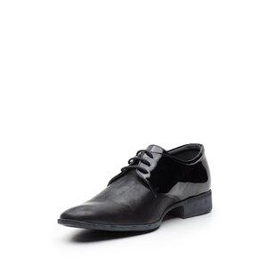 Pantofi eleganti barbati din piele naturala,Leofex - 692 negru lac+box