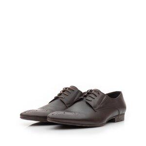 Pantofi eleganti barbati din piele naturala,Leofex - 779 taupe inchis box