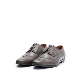 Pantofi eleganti barbati din piele naturala,Leofex - 780 taupe inchis box