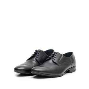Pantofi eleganti barbati din piele naturala,Leofex - 791 negru box
