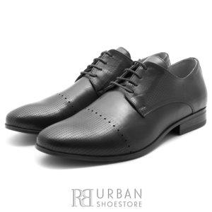 Pantofi eleganti barbati din piele naturala,Leofex - 821  negru