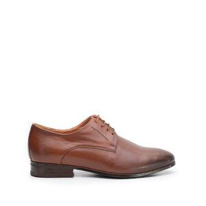 Pantofi eleganti barbati din piele naturala,Leofex - 831 cognac box