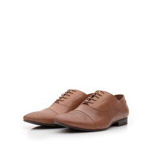 Pantofi eleganti barbati din piele naturala, Leofex - 834 Cognac 1 deshis box