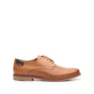 Pantofi casual barbati din piele naturala,Leofex - 843 cognac box