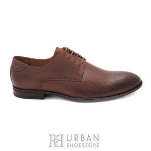 Pantofi eleganti barbati din piele naturala,Leofex - 887 cognac box