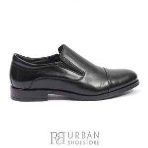 Pantofi eleganti barbati din piele naturala, Leofex - 970 Negru Box