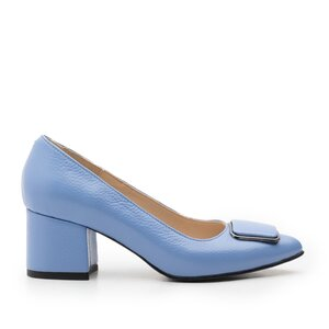 Pantofi eleganti dama din piele naturala - 2176 Albastru box