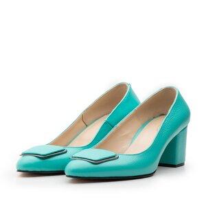 Pantofi eleganti dama din piele naturala - 2180 Turcoaz box