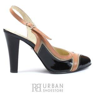 Pantofi eleganti dama din piele naturala - 651 negru samur