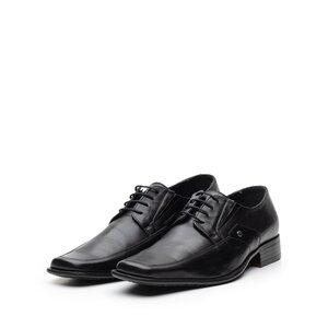 Pantofi eleganti din piele naturala cu varf patrat, Leofex - Mostra Carl 1 negru box