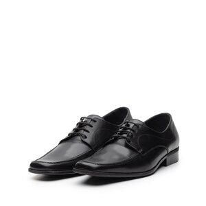 Pantofi eleganti din piele naturala cu varf patrat, Leofex - Mostra Carl 3 negru box
