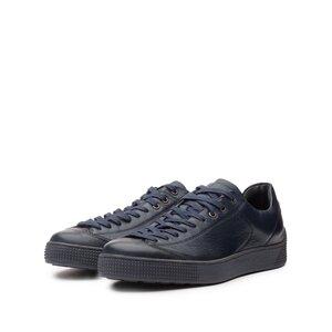 Pantofi sport barbati din piele naturala cu siret pana in varf, Leofex - Mostra 517-1 Blue Box