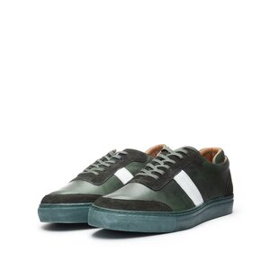 Pantofi sport barbati din piele naturala Leofex - 523-1 Verde Box