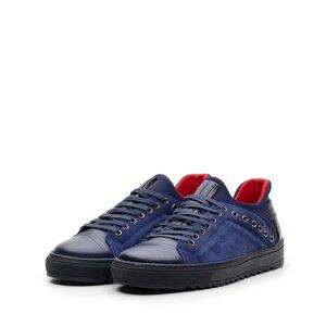 Pantofi sport barbati din piele naturala, Leofex- 959 Blue Box+velur