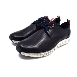 Pantofi sport barbati din piele naturala, Leofex - 942-1 Blue box