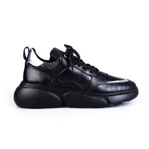 Pantofi sport dama din piele naturala, Leofex- 239 Negru box