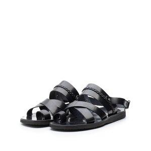 Sandale barbati din piele naturala - 031 Negru Box