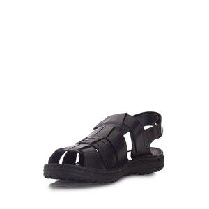 Sandale barbati din piele naturala, Leofex - 144 negru box