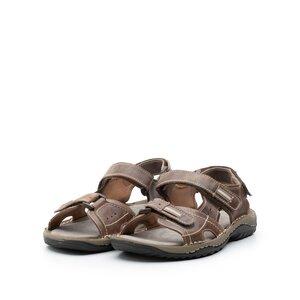 Sandale barbati din piele naturala Leofex- 693 Taupe box