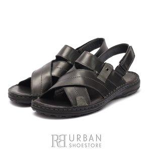 Sandale barbati din piele naturala, Leofex - 799 Negru Box