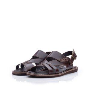 Sandale barbati din piele naturala, Leofex - 949 Maro box