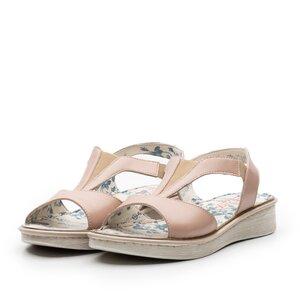 Sandale dama din piele naturala Leofex- 215 Nude Box