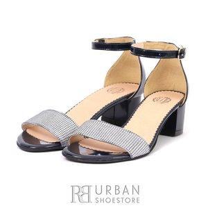 Sandale elegante dama piele lacuita- 685-2 Blue Lac