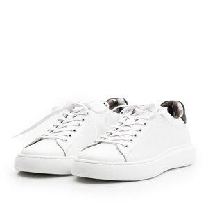 Sneakers dama din piele naturala,Leofex - 310 alb+negru box