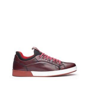 SneakersI barbati din piele naturala, Leofex - Mostra Dragos Rosu Box